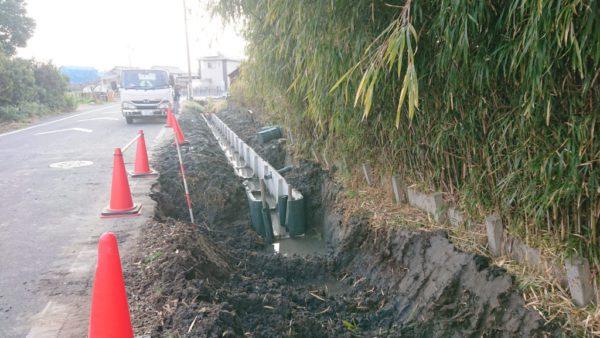 愛西市アーム水路工事